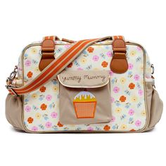 Yummy Mummy Pansies Baby Bag #pinklining----- someday when a baby is in the picture