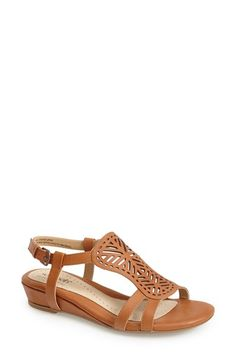 Softspots 'Susanna' Lasercut Wedge Sandal (Women) | Nordstrom