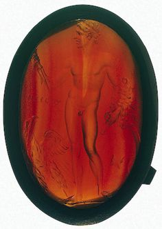 Alexander the Great. King of ancient Greek kingdom of Macedonia, Intaglio technique. Cornelian Material Ancient Greece 4-3rd century BC Hermitage