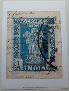 $15.50  Postage Stamp India ART Print Vintage Stamp I BY Vision Studio   eBay