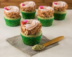 Simply Delicious : Green Tea Strawberry Coconut Cupcakes