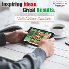 Restaurants get smarter with tablet menu solutions. Know more here: www.imenucards.com  #imenu #tabletmenu #restaurants #ipadmenu