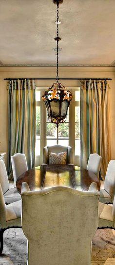 curtains & light fixture