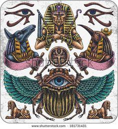 egyptian cat god tattoo - Google Search