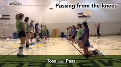 Sask Volleyball Triple Ball Video 3 of 5 Forearm Passing