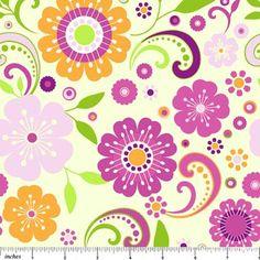 Northcott Fabric Dress Up flowers yellow 1339