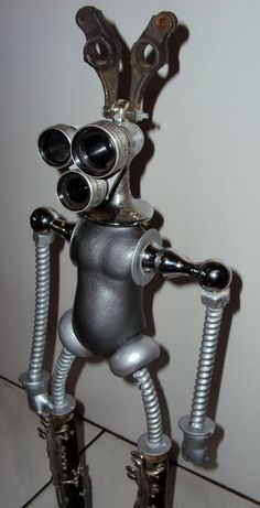 Robot Found Object Assemblage Sculpture by jroldan11 on Etsy - $680