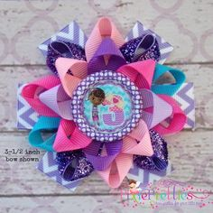 Custom Doc McStuffins Birthday (Ages Loopy Flower Bow {Available in 5 Sizes} Flower Hair Bows, Girl Hair Bows, Girls Bows, Little Girl Hairstyles, Diy Hairstyles, Pretty Hairstyles, Doc Mcstuffins Birthday, Hair Ornaments, Ribbon Bows
