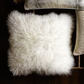 Mongolian Lambswool Pillow Cover, Ivory