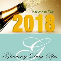 Happy New Year🎊 — Glowing Day Spa wishes you Blessings and wellness for 2018. Call us to make your appointment and lets make 2018 Glow.  (561)405-6694