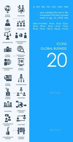 177 Best Business Icons images in 2017 | Icon set, Icons, Business icon