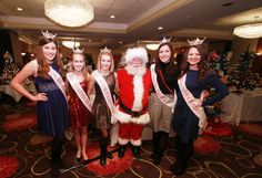"""Santa and some of our """"Princesses"""" pageant winners that came and entertained our Santa Breakfast guests Santa Breakfast, Leukemia And Lymphoma Society, How To Raise Money, Pageant, Princesses, Cancer, Trees, Tree Structure, Princess"""