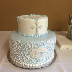 Photo of Cakes by Request - Yuba City, CA, United States. Sons baptism cake.. I was as usual, very pleased
