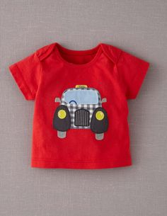Vehicle Appliqué T-shirt from Mini Boden for CJ... @Laura O'Neal !