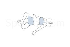 The reclining bound angle pose stretches the groins, inner thighs and hips, and helps relieve the symptoms of stress, anxiety and depression. It also stimulates the abdominal and reproductive organs, improves digestion and increases blood circulation. http://www.spotebi.com/exercise-guide/reclining-bound-angle-pose/