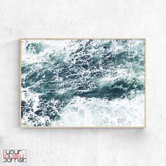 Ocean Wave Poster, Sea Foam Green, Ocean Water Print, Ocean Foam Printable Wall Art, Coastal Decor, Modern Nordic Print, Scandinavian Poster