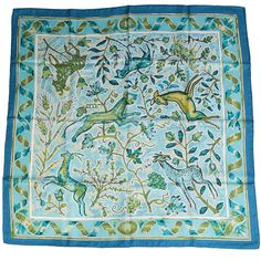 Hermes Scarf MosaicTile, Never Worn   From a collection of rare vintage scarves at https://www.1stdibs.com/fashion/accessories/scarves/