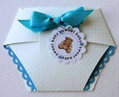 Dee - Diaper shaped card set - USED THE NEW CRICUT EXPLORE TO CUT