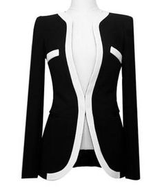 Match polyester women s blazer black xl in blazers dresslily com