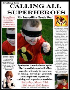 Super hero invite