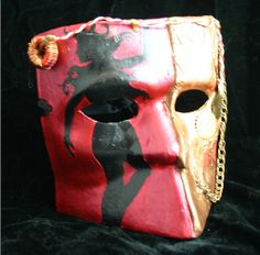 Lancelot - Steampunk inspired Arthurian Mask, one of a kind