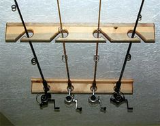 Wooden Vertical Fishing Rod Racks (Conventional or Fly Rods) | CozyWinters.com