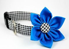Dog CollarClassic Black and White HoundstoothMade by BowWowCouture, $19.95