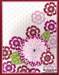 Pink Flowers by Michelerey - Cards and Paper Crafts at Splitcoaststampers