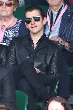 Alex Turner watched Murray from his seat on Centre Court.