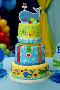 Sweet baby Shower boy Cake! #Itsaboy