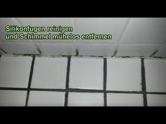 Silikonfugen reinigen – Schimmel von Silikonfuge entfernen – Fugen im Bad / Dusche sauber machen - YouTube