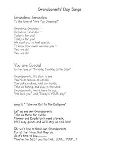 short grandparents day poems - Google Search