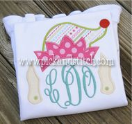 Monogram Girl Elf Applique Design