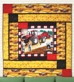 Big Boys Toys by Sue Harvey and Sandy Boobar (from Quilt Trends Magazine Spring 2014 issue) www.quilttrendsmag.com