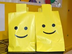 Lego man party bags