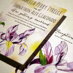 Wedding Stationery, Wedding Invitations, Wedding Graphics, Lgbt Wedding, Card Companies, Anniversary Ideas, Invitation Ideas, Iris, Special Occasion