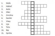 Výsledok vyhľadávania obrázkov pre dopyt tajničky pre deti Crossword, Puzzle, Crossword Puzzles, Puzzles, Puzzle Games, Riddles