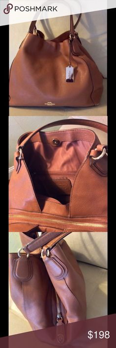 Coach Edie bag Good Condition some sign of use in bottom corners still very nice bag. Coach Bags