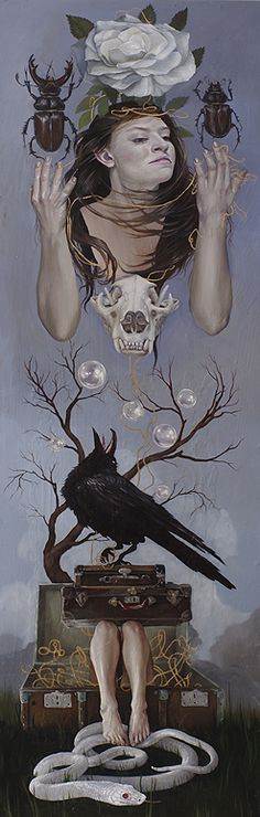 "Crows Ravens:  #Raven ~ ""Isobel and the Reign of Mourning,"" by Catherine Brooks, 2011."
