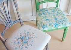 blue & green chairs by 508 Restoration & Design, via Flickr