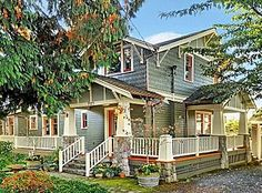 Ahhh the dream wrap around porch Originally constructed in this home has been updated to retain original charm and character of a true craftsman. Craftsman Home Exterior, Craftsman Style Homes, Craftsman Bungalows, Exterior Paint, Bungalow Exterior, Character Home, My Dream Home, Dream Homes, Dream Big
