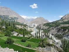 beautiful view of hunza valley gilgit baltistan Pakistan...