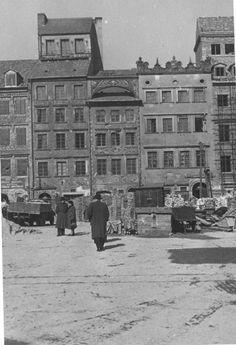 Warszawa - Rynek Starego Miasta (lata 50. XX w.)