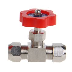 Durable Tube Nickel-Plated Brass Plug Needle Valve OD 6mm/8mm/10mm -B119 #Affiliate