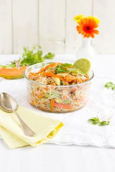 haseimglueck.de Rezept, Glasnudeln Papaya Salat 1