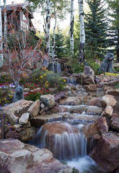 Small backyard waterfall 3