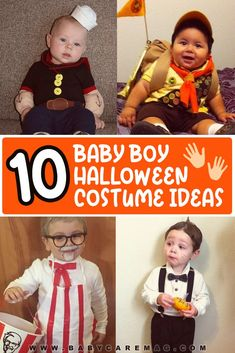 In this article, you'll find a list of ideas and suggestions for the perfect adorable Halloween costume for your little buddy. Best Baby Costumes, Newborn Halloween Costumes, Halloween Costumes To Make, Baby Halloween Costumes For Boys, Baby First Halloween, Boy Costumes, Infant Costumes, Infant Halloween, Halloween Projects