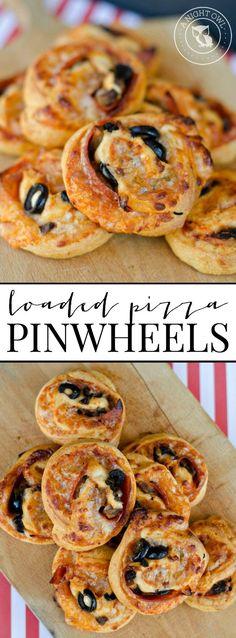 Loaded Pizza Pinwheels   anightowlblog.com