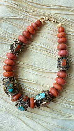 Beautiful vintage tribal beads High Plateau by MorningDoveDesign