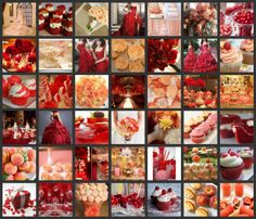 #Peach and #Red #Wedding - See More #Weddingcolors at http//partymotif.com #PartyMotif